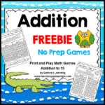 Addition Game Freebie