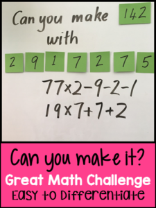 Can You Make It? Math Game
