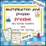 Multiplication Key Word Charts Square Thumbnails