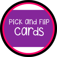 Pick, Flip Check Cards Fun!