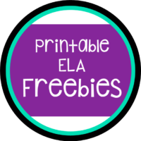 Welcome to My ELA Freebies Page!
