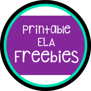 Printable ELA Freebies C