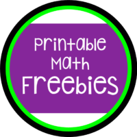 Welcome to my Math Freebies Page!