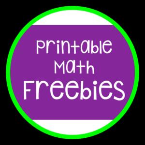 Printable Math Freebies C