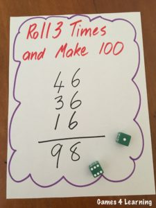 Roll 3 Math Game