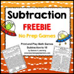 Subtraction Game Freebie