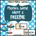 Word Maker Silent e FREEBIE