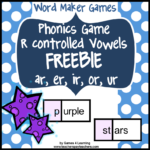 Word Maker r Controlled Freebie