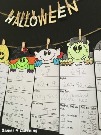 Halloween Math Friends