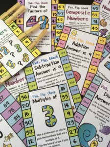 Math Flip Cards